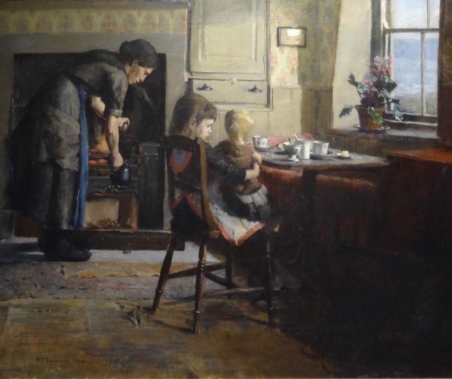 Afternoon Tea, oil on canvas, 28 x 36