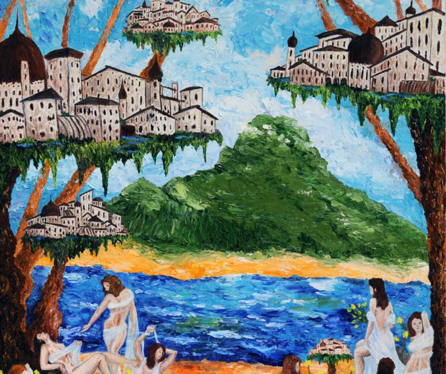 Danova Gardilcic, The Bathers, oil painting