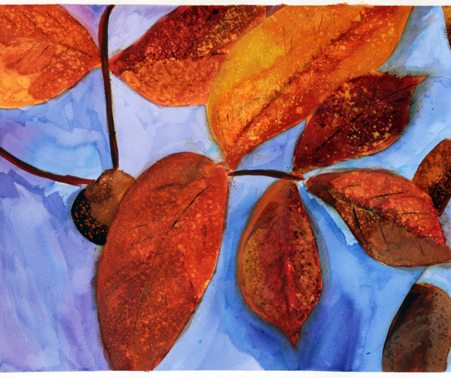 Madison Llano, Leaves II, acrylic on paper