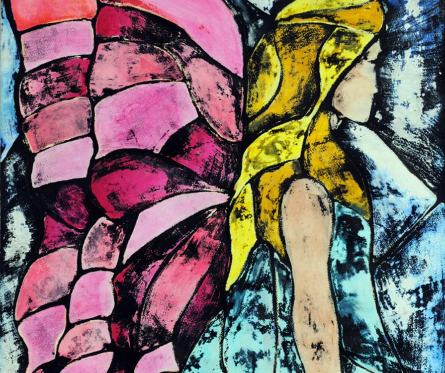 Emily Pruner, Fairy, layered tempera