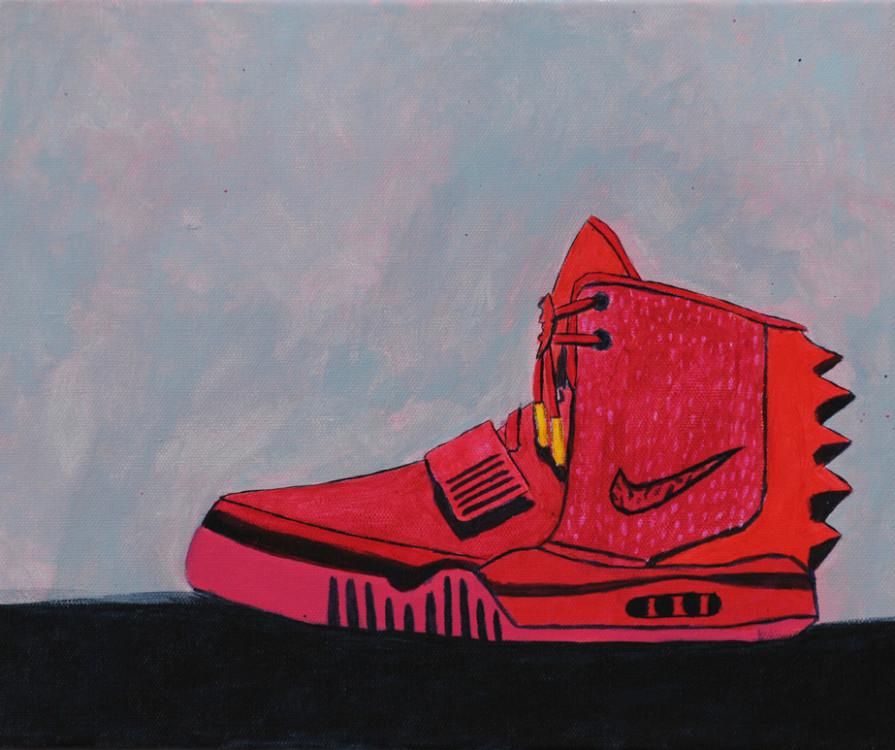 Marcus P, Runners, acrylic on canvas