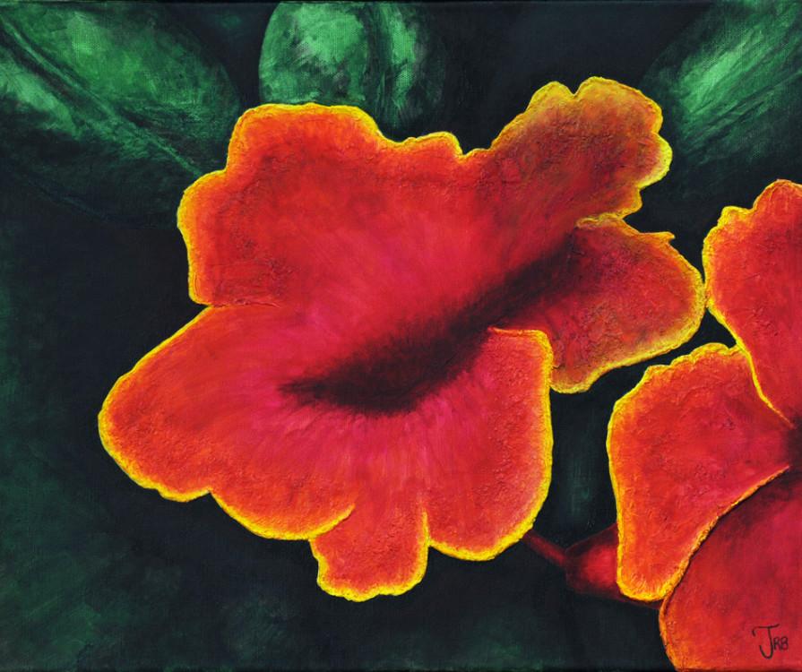 Jessica Brender, Flower, acrylic on canvas