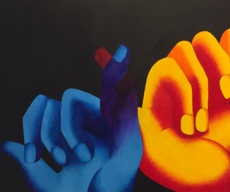 Jessica Brender, Unspoken Bond, acrylic on canvas