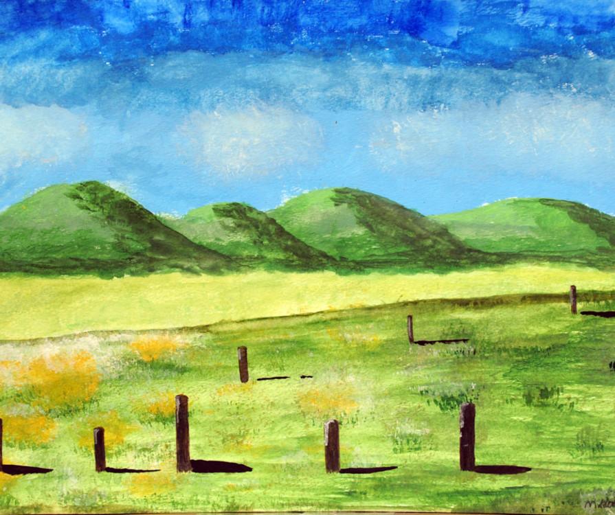 Madison Llano, landscape, acrylic