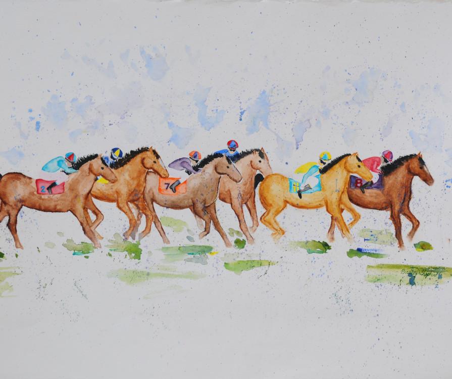 Bradley Shepherd, The Race, acrylic on canvas, 22 x 30