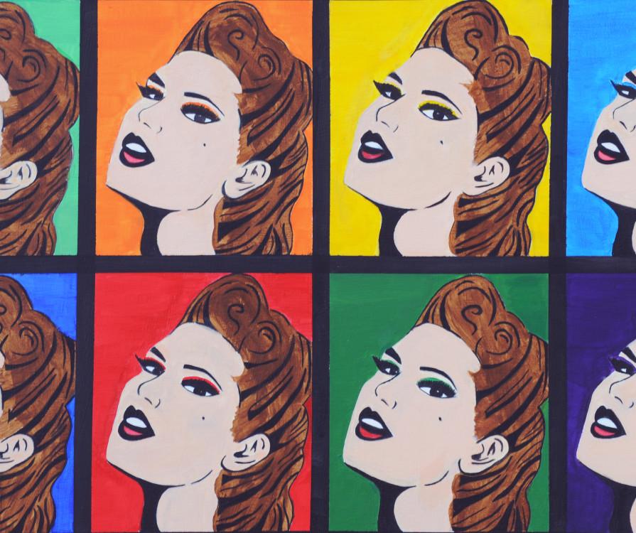 Lauren Oberman, Mass Media, acrrylic on canvas, 20 x 24