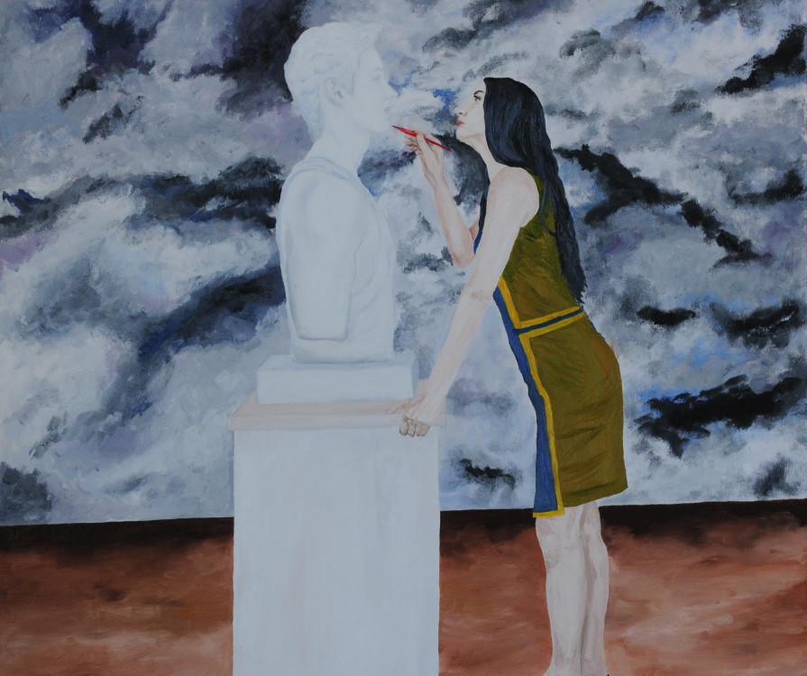 Danova Gardilcic, Freida Gardilcic, oils on canvas, 36 x 36