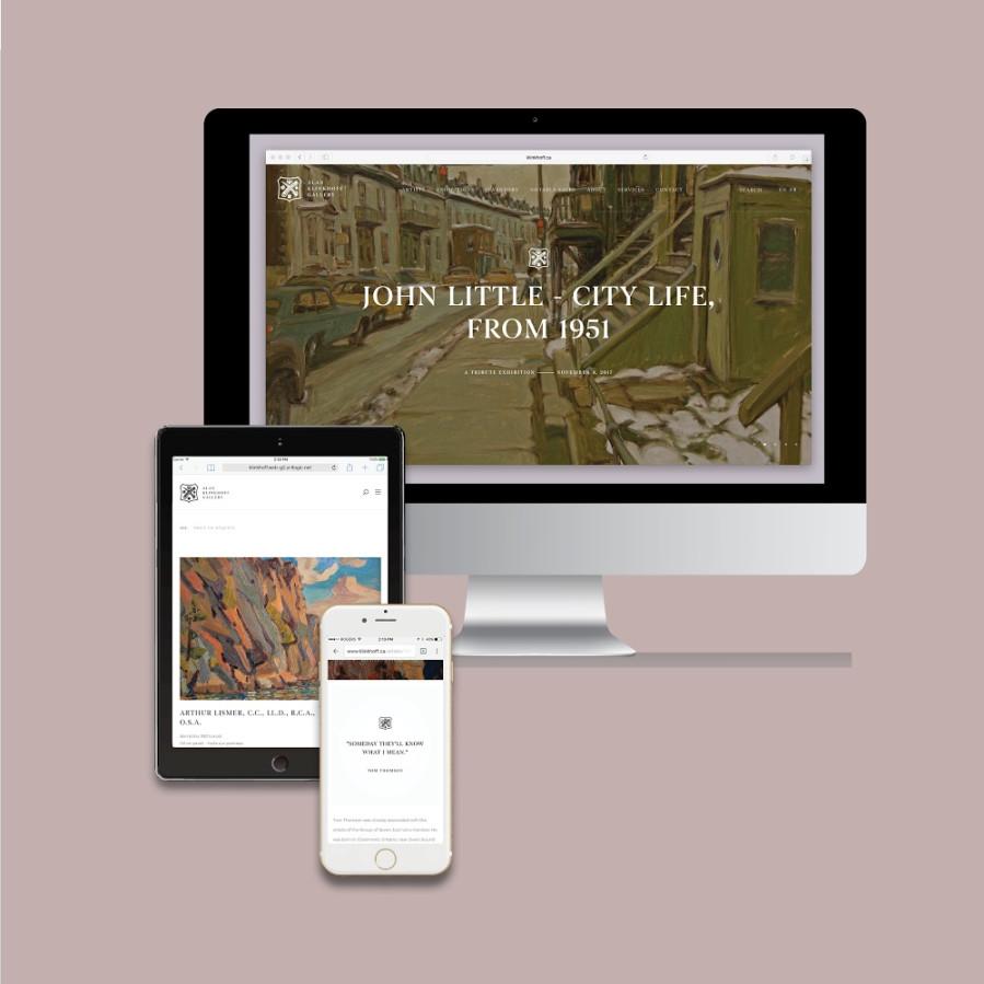 Un site Web à la fine pointe, Nos galeries en tout temps accessibles en ligne