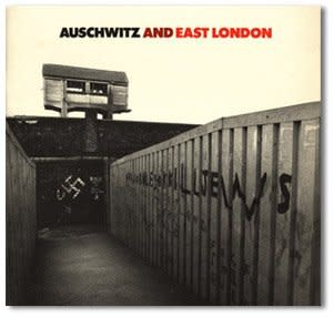 "<p style=""text-align: justify;"">Auschwitz and East London. Tower Hamlets Arts Project. Design by Richard Hollis. 1983. Design by Richard Hollis</p>"