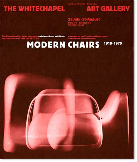 "<p style=""text-align: justify;"">Modern Charis: 1918-1970, Whitechapel Art Gallery, 1970. Exhibition catalogue. Design by Richard Hollis</p>"