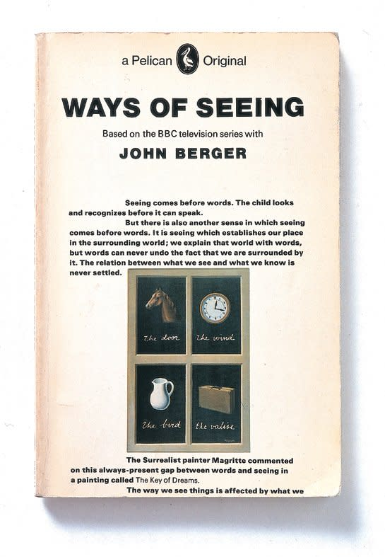 "<p style=""text-align: justify;"">Ways of Seeing, John Berger. Design by Richard Hollis. 1972</p>"