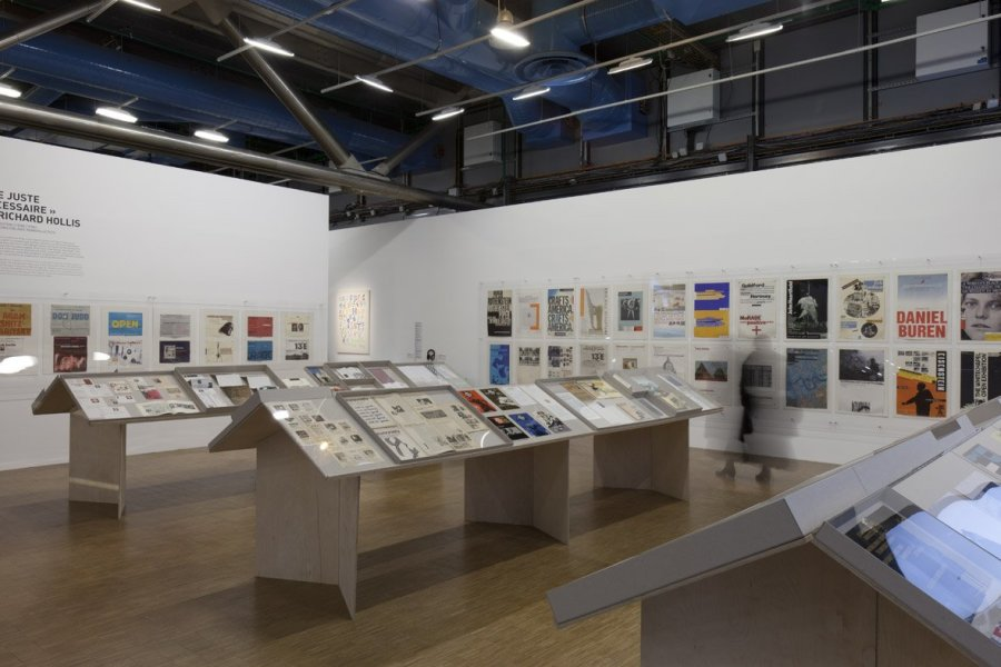<p>Richard Hollis at the Centre Pompidou, 2013</p>
