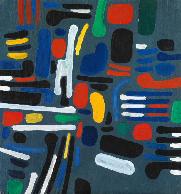 "<span class=""artist""><strong>Caziel</strong></span>, <span class=""title""><em>WC773 - Composition 1967/1</em>, 1967</span>"
