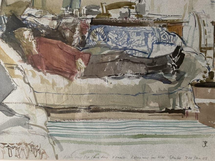 Mary Relaxing in Ken's Venice Studio