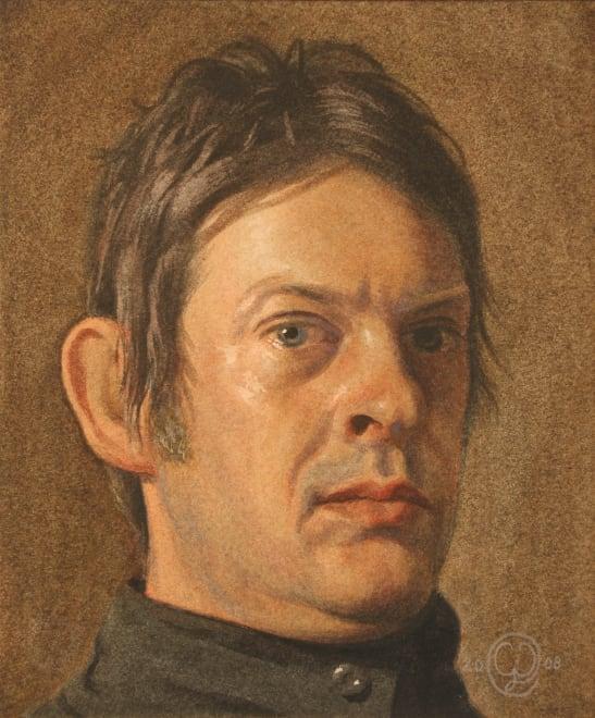 Self Portrait with Black Collar