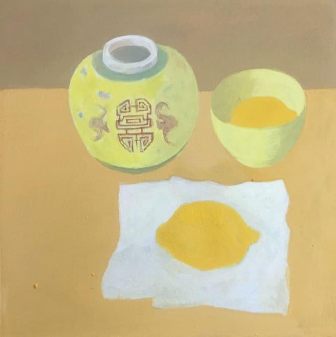 Ginger Jar and Two Lemons
