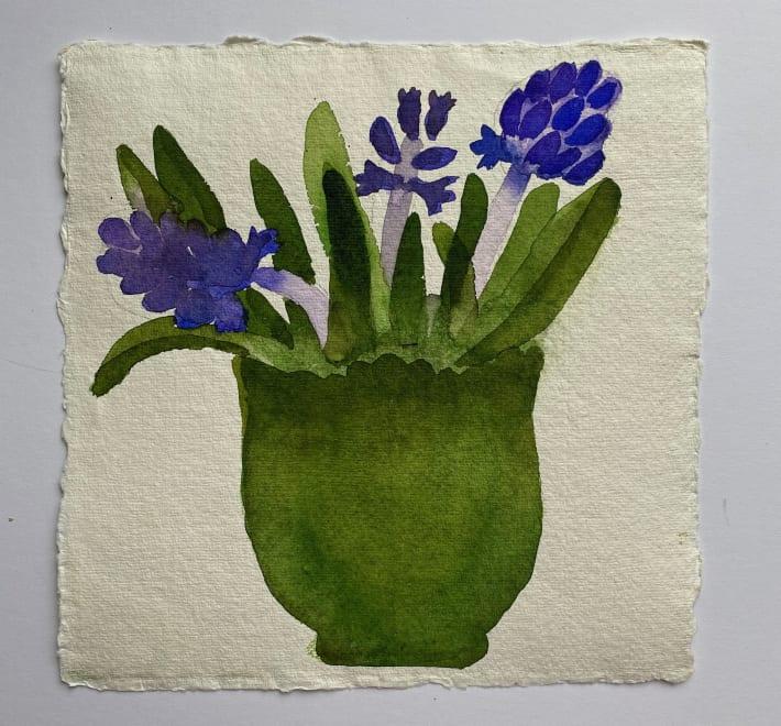 Hyacinths in my Green Bowl