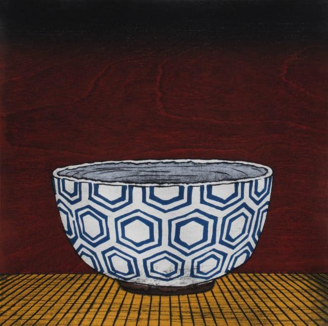 White Hexagon Tea Bowl