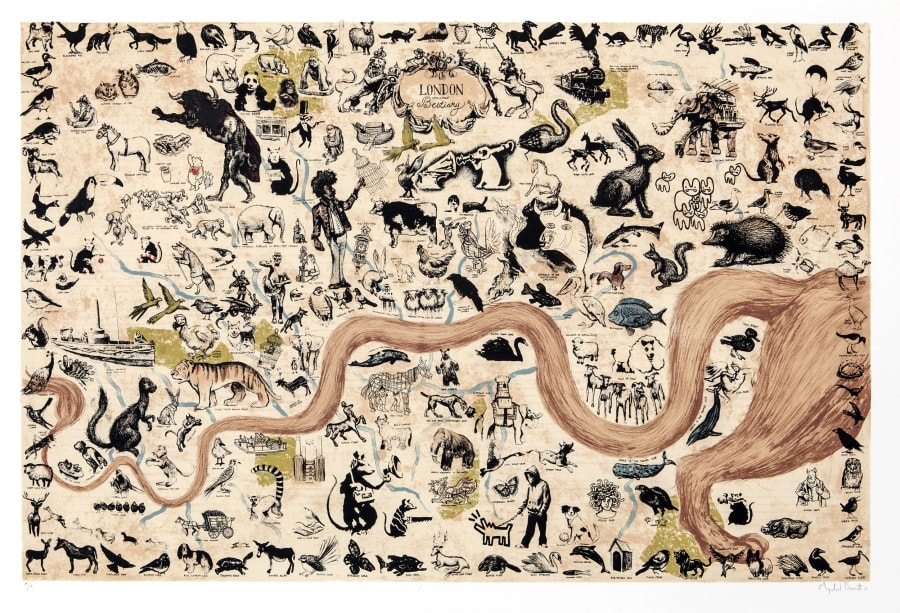 A London Bestiary - Map of London's Animals