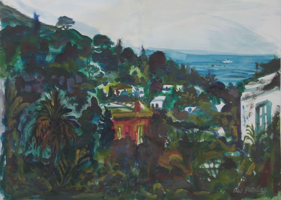 View of Ingrid Bergman's House on Stromboli