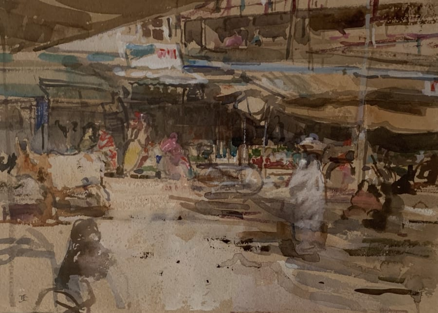 Hustle and Bustle in the Market, Marrakesh
