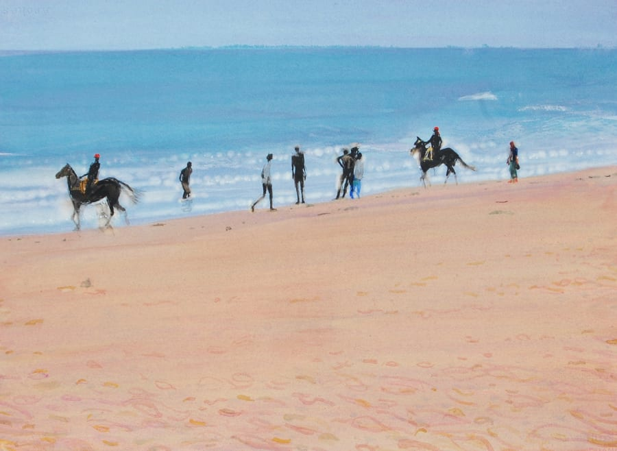 Horses on Mamallapuram Beach