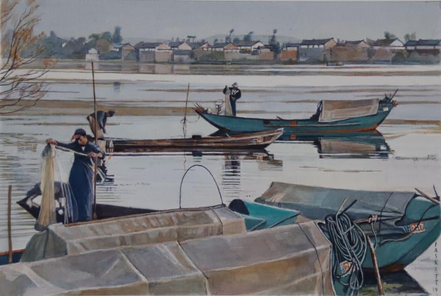 Mending Nets, Lake Erhai, Dali