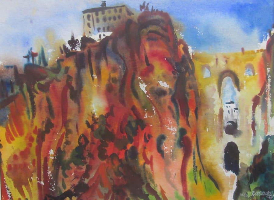 The Bridge and Gorge at Ronda, Spain