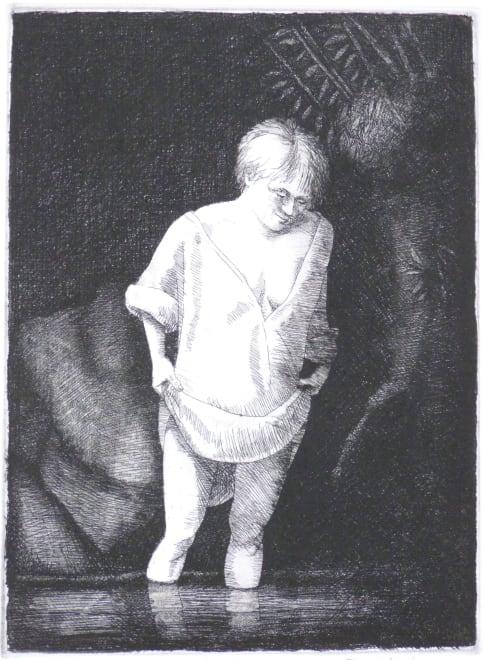 After Rembrandt, Hazel Bathing