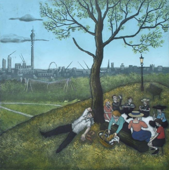 Primrose Hill - Summer, after Bruegel