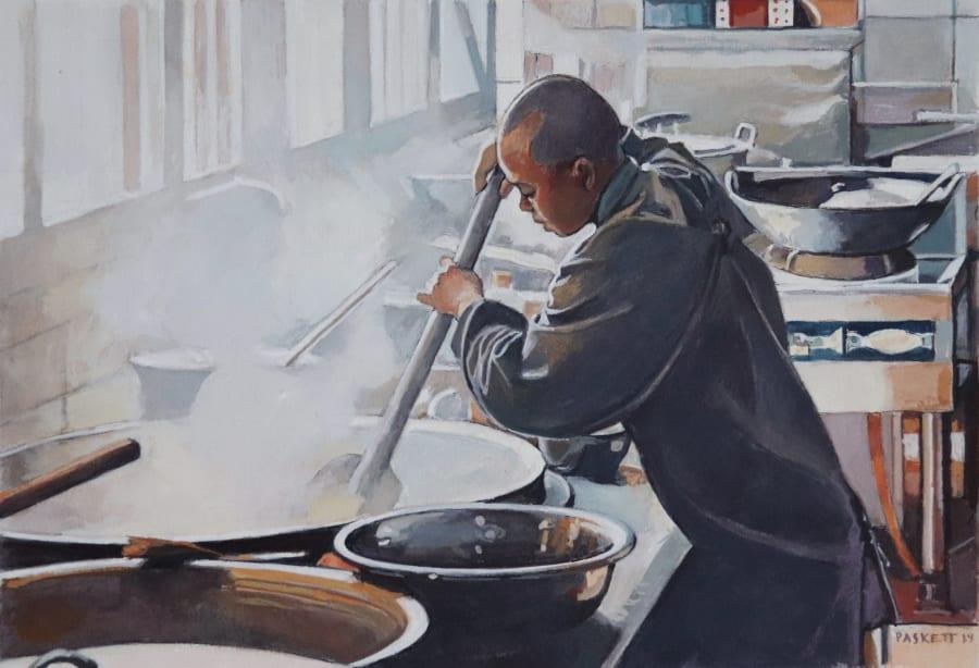 Nun Cooking, Caoshan Temple Kitchen