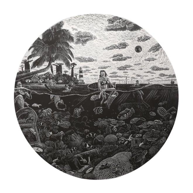 Fruits de Mer.... Collaboration Ade Adesina/David Mach