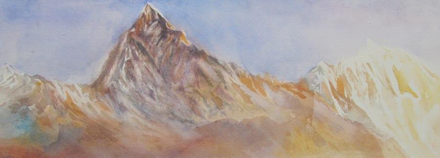 Mount Machapuchare in the Annapurnas, Nepal