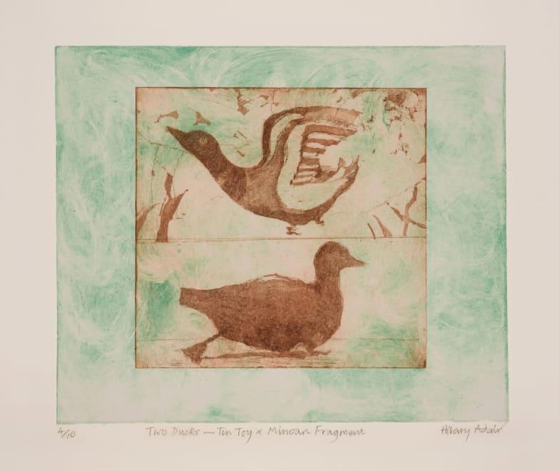 Two Ducks - Tin Toy & Minoan Fragment