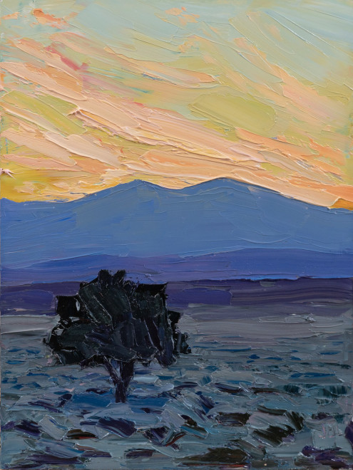 Jivan Lee, The Lone Pinon at Dusk