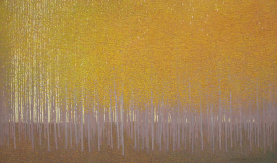 David Grossmann, Dusk Light Through Autumn Leaves