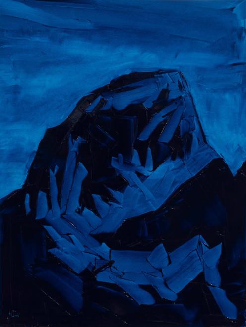 Jivan Lee, Grand Teton, ROYGBIV #3, Blue (Ultramarine blue)
