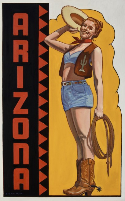 Dennis Ziemienski, Arizona Cowgirl Decal
