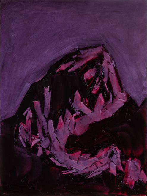 Jivan Lee, Grand Teton, ROYGBIV #2, Violet (quinacridone magenta and violet)