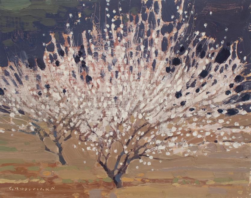 David Grossmann, Two Blossoming Plum Trees