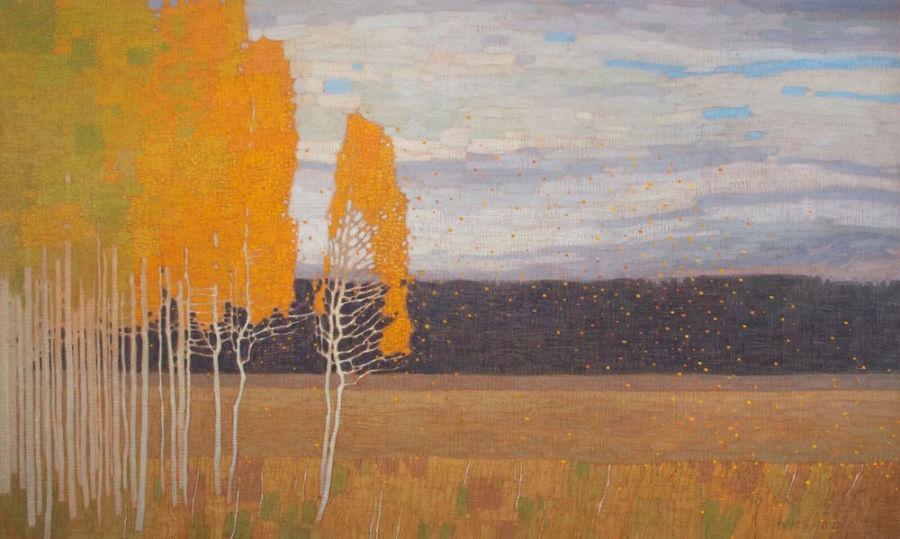David Grossmann, Autumn Meadow with Wind
