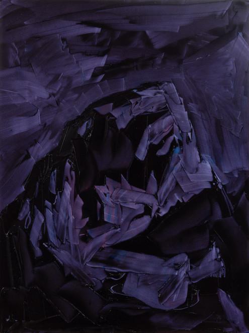 Jivan Lee, Grand Teton, ROYGBIV #3, Violet (quinacridone violet and dioxazine purple)