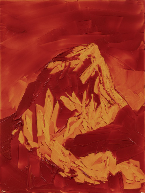 Jivan Lee, Grand Teton, ROYGBIV #2, Orange (transparent orange)