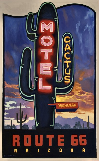 Dennis Ziemienski, Route 66 Decal