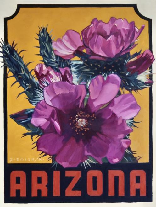 Dennis Ziemienski, Pink Cactus Blossom Decal