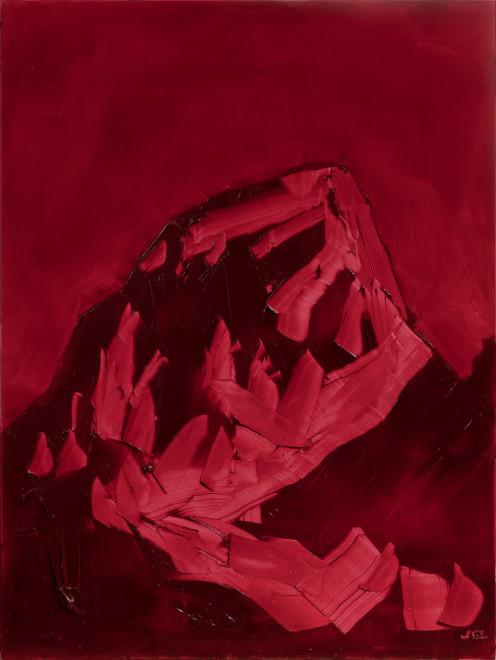 Jivan Lee, Grand Teton, ROYGBIV #2, Red (alizarin permanent)