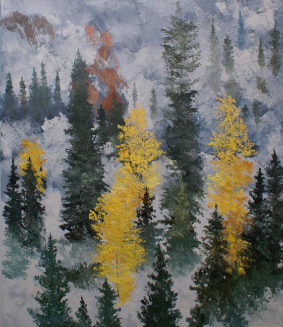 James Pringle Cook, Blue River Low Clouds