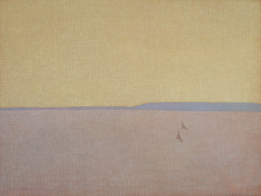 David Grossmann, Two Hawks with Yellow Sky