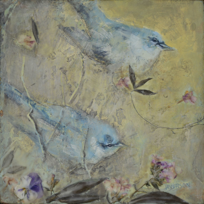 Mary Roberson, Cerulean Warbler Composition