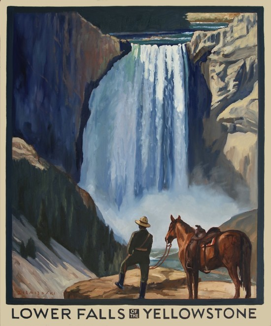Dennis Ziemienski, Lower Falls of the Yellowstone